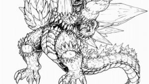 Space Godzilla Coloring Pages Ultimate Space Godzilla Coloring Page
