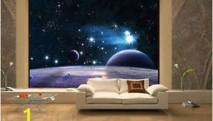 "Space Murals for Rooms 100"" X 145"" Space 3d Sky Clouds Stars Wall Murals Wallpaper Home"