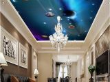 Space Murals for Rooms Custom 3d Ceiling Wallpaper Mural Space solar System Planet Bedroom