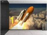 Space Shuttle Wall Mural Wallpaper Border Outer Space solar System Space Shuttle