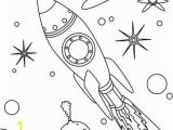 Space themed Coloring Pages Rocket In Space Coloring Page