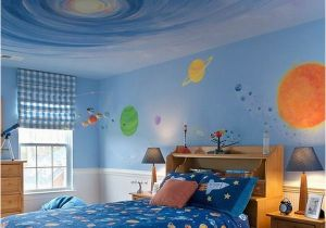 Space themed Wall Murals Awesome Kids Galaxy Bedroom Wall Murals theme Painting