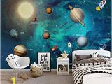 Space Wall Mural Amazon Aawang Costom Embossed Wallpaper Hand Drawn Space