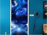 Space Wall Mural Stickers Amazon Pbldb Pvc Wallpaper Modern Universe Starry Sky