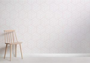 Space Wall Mural Uk the Lined Cube Geometric Modern Wallpaper Mural is A Great Choice