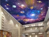 Space Wall Mural Wallpaper 3d Galaxy Stars Universe Wallpaper for Ceiling or Wall