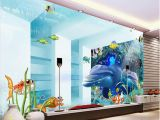 Space Wall Mural Wallpaper 3d Room Wallpaper Custom Mural Space Underwater World Dolphin Tv Background Wall Picture 3d Wall Murals Wallpaper for Walls 3 D Free Wallpapers