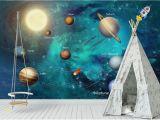 Space Wall Mural Wallpaper Wdbh 3d Wallpaper Custom Hand Painted Space Universe Children S Room Tv Background Home Decor 3d Wall Murals Wallpaper for Walls 3 D Wallpaper