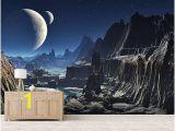 Space Wall Murals Uk Moonlit Alien Valley Canyon Wallpaper Mural Wallpaper Wall
