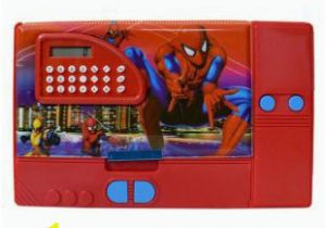 Spider Man Jumbo Coloring Book Shophills Spider Man Jumbo Pencil Box with Calculator Red