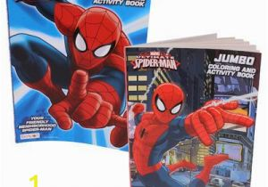Spider Man Jumbo Coloring Book Ultimate Spiderman Jumbo Coloring & Activity Book