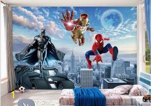 Spiderman Wall Mural Huge Superhero Marvel 3d Batman Spiderman Iron Man Superhero 3d Photo Wallpaper In 2019