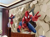 Spiderman Wall Mural Huge Superhero Marvel 3d Large Wall Wallpaper Mural Hd Hero Spiderman Wall Poqiang Visual