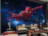 Spiderman Wall Mural Huge Superhero Marvel Großhandel 3d Stereo Continental Tv Hintergrundbild Wohnzimmer