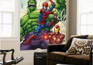 Spiderman Wall Mural Huge Superhero Marvel Marvel Adventures Super Heroes No 1 Cover Spider Man Iron Man and