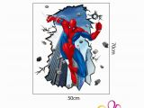 Spiderman Wall Mural Sticker ✤od✤50x70cm Spiderman Wall Sticker Removable Vinyl Mural Decal Kids Boys Room