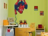 Spiderman Wall Mural Sticker Spiderman Cartoon Wall Sticker Pvc Self Adhesive Movie Wall Decal for Kids Room and Living Room Home Decoration Decorative Stickers for the Wall