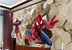 Spiderman Wall Mural Uk 3d Large Wall Wallpaper Mural Hd Hero Spiderman Wall Poqiang Visual