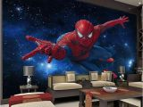 Spiderman Wall Mural Uk 3d Stereo Continental Tv Background Wallpaper Living Room Bedroom