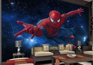 Spiderman Wall Mural Uk 3d Stereo Continental Tv Background Wallpaper Living Room Bedroom