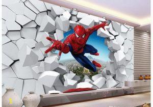 Spiderman Wall Mural Uk Murals 3 D Spiderman Batman Iron Man Personality Background