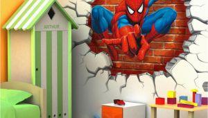 Spiderman Wall Murals 45 50cm 3d Spiderman Cartoon Movie Hreo Home Decal Wall Sticker for