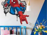 Spiderman Wall Murals Hot Handsome Spiderman Ing In Kids Rooms Decal Wall Sticker Home