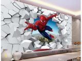 Spiderman Wall Murals Murals 3 D Spiderman Batman Iron Man Personality Background