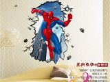 Spiderman Wall Murals Wallpaper ✤od✤50x70cm Spiderman Wall Sticker Removable Vinyl Mural Decal Kids Boys Room