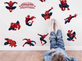 Spiderman Wall Murals Wallpaper Diy 11 Pose Spiderman Decorative Wall Stickers for Nursery