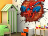 Spiderman Wallpaper Murals 45 50cm 3d Spiderman Cartoon Movie Hreo Home Decal Wall Sticker for