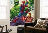 Spiderman Wallpaper Murals Marvel Adventures Super Heroes No 1 Cover Spider Man Iron Man and