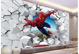 Spiderman Wallpaper Murals Murals 3 D Spiderman Batman Iron Man Personality Background
