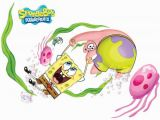 Spongebob Squarepants Wall Murals asian Paints Wall S Spongebob Xl Go Round and Round with Fun Cartoon Characters Sticker 43 X 113 Cms