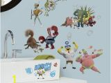 Spongebob Wall Mural 10×18 the Spongebob Movie Peel and Stick Wall Decals