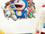 Spongebob Wall Mural 3d Cartoon Doraemon Wall Sticker Home Decoration Wall Decals for