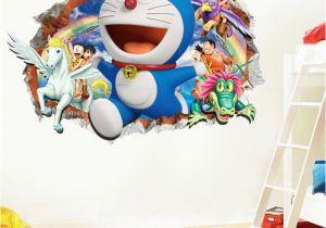 Spongebob Wall Mural 3d Cartoon Doraemon Wall Sticker Home Decoration Wall Decals for