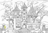 Spooky Halloween Coloring Pages Printable Horror Scenes original Spooky Designs to Send Shivers Down