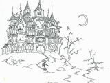Spooky Halloween Coloring Pages Spooky House Needlepoint Patterns