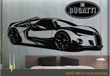 "Sports Car Wall Murals Bugatti Renaissance Gt Super Sport Car Wall Decal 60"" X 22"