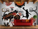 Sports Murals for Bedrooms Children S Room Wall Papers 3d Sport Wallpaper Vintage Brick