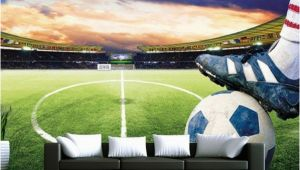 Sports Stadium Wall Mural 3d soccer Field Custom Wallpaper Sports Stadium Wall Mural In