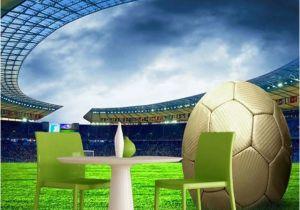 Sports Stadium Wall Mural Custom 3d soccer Wallpaper Sports Football themed Stadium