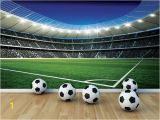 Sports Stadium Wall Mural Football Stadium Wallpaper for Boys Room In 2019 Sports Fun