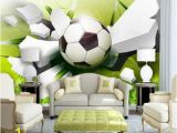 Sports Wall Mural Decals 3d soccer Football Sports Wall Mural Home or Business