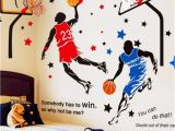 Sports Wall Murals Cheap Kelay Fs 3d Basketball Wall Decals Sports Decals Basketball Stickers Wall Decor Basketball Player Wall Stickers for Boys Room Bedroom Decor