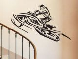 Sports Wall Murals Cheap Snowmobiles Wall Decals Vinyl Decorative Stickers Home Decor Winter Sports Wall Stickers for Kids Bedroom Decorations Wall Decal Wall Decal Adhesive