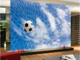 Sports Wall Murals Cheap wholesale 3d Mural Football Wallpaper Murals sofa Background soccer Wall Paper Mural Wallcoverings Papel De Parede Wallpaper Designs Wallpaper