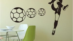 Sports Wall Murals Wallpaper Football Sports Wall Stickers Wallpapers Waterproof Pvc Wall Decals Murals Can Be Removable Self Adhesive Boy Bedroom Background Decoration Stickers