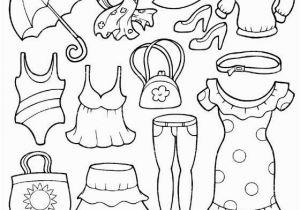 Spring Clothes Coloring Pages Summer Clothing Coloring Page Coloring Pages
